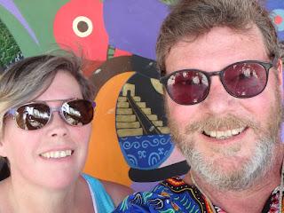 Along Paseo de Montejo picture of us.