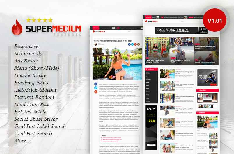 Superman'dium V.1.0.1 Responsive Blogger Template