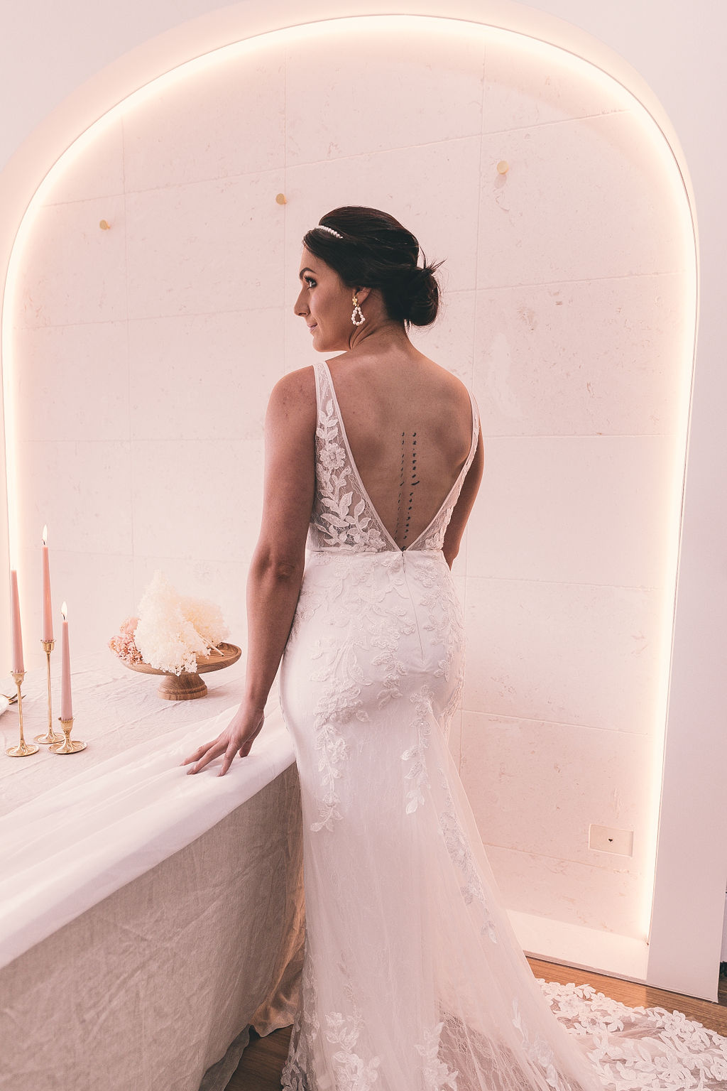 images by jessica witkamp boho bridal gowns wedding dresses the entrance nsw blush pink table styling cake