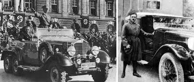 Hitler with car