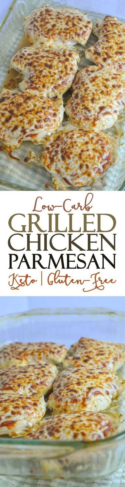GLUTEN-FREE GRILLED CHICKEN PARMESAN (LOW-CARB) #chicken recipes