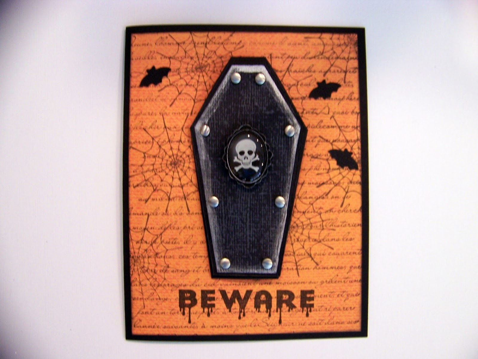 Ann Greenspan's Crafts: Halloween Coffin cards