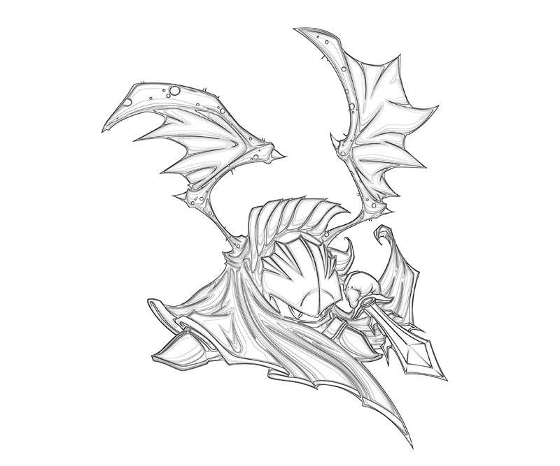 meta knight coloring pages - meta knight dragon temtodasas