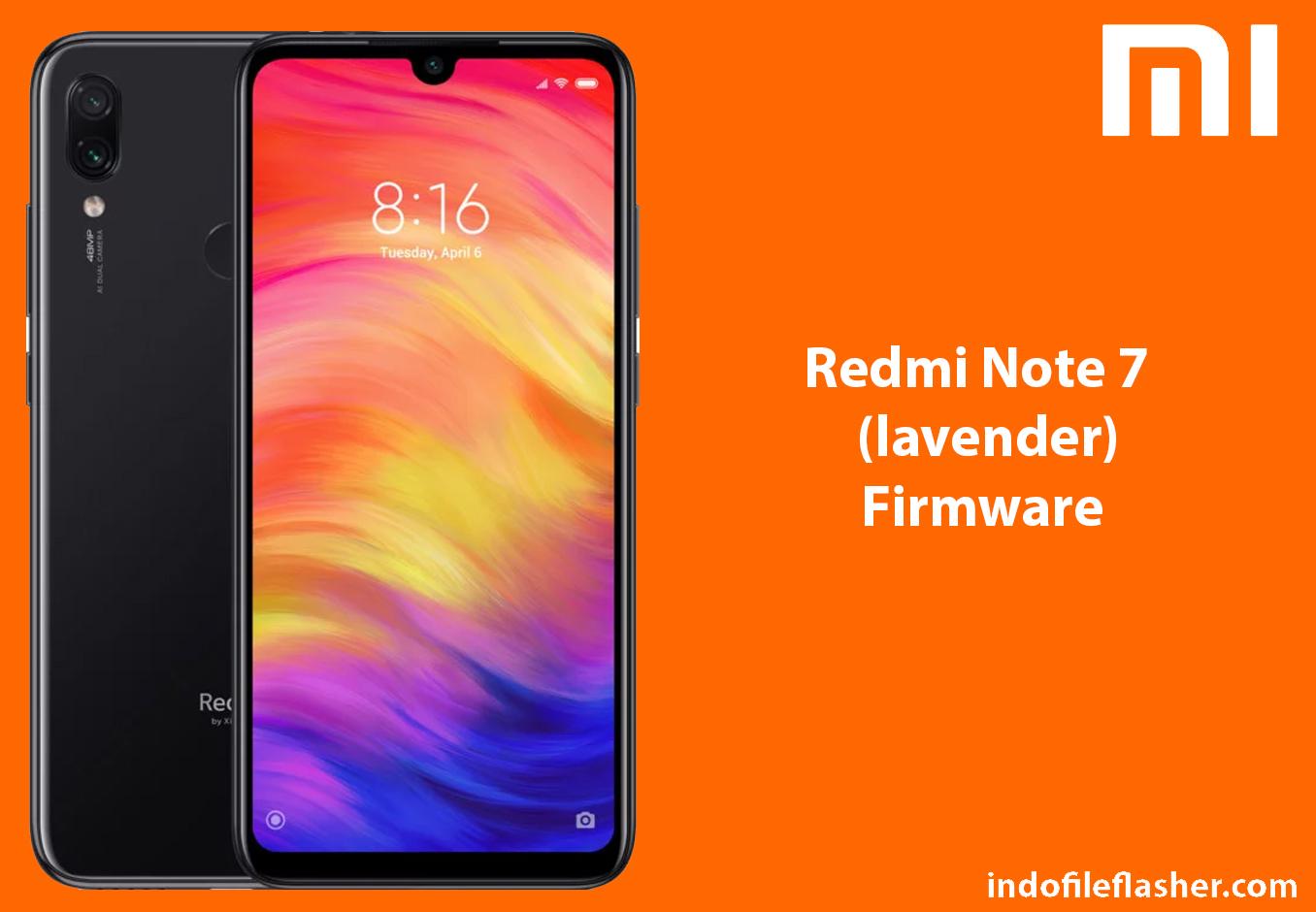Firmware Xiaomi Redmi Note 7 lavender (V10 2 7 0 PFGINXM