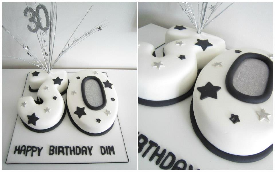30th Birthday Cake Numbers