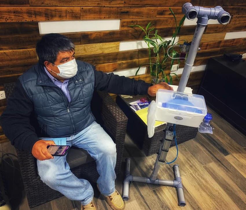 Cajamarquino Rodolfo Ortiz crea ventilador mecánico