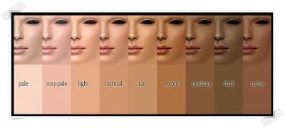 tabel jenis warna kulit gambar warna kulit warna kulit tan pengukur warna kulit warna kulit eksotis warna kulit hitam