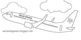 Mewarnai Pesawat Mewarnai Gambar