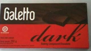 Coklat batangan galetto dark coklat