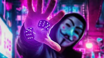 Anonymous, Mask, Dice, Digital Art, 4K, #6.2497