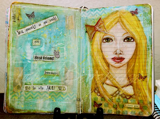 Your Best Friend Art Journal Pages Photo by Tori Beveridge