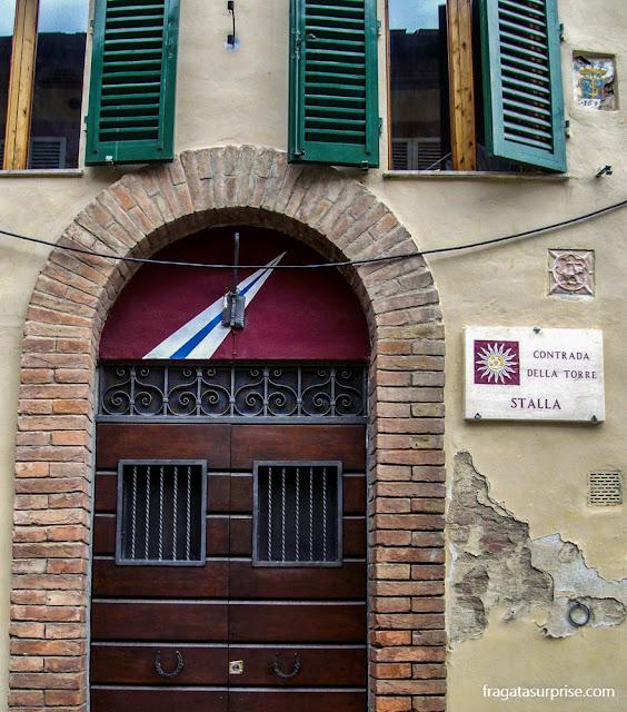 Sede da Contrada della Torre, Siena, Itália