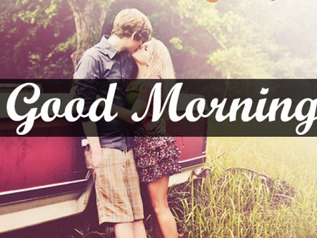Beautiful Good Morning Kiss Image for Lovers