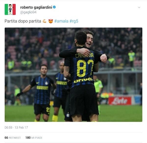 Roberto Gagliardini dal suo profilo Twitter
