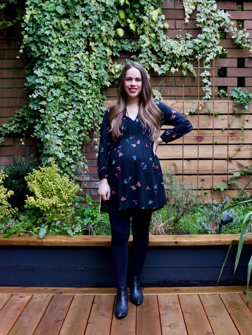 Jules in Flats - Floral Tie-Neck Swing Dress (Business Casual Workwear on a Budget)