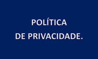 A imagem de fundo azul  e caracteres em branco está escrito: política de privacidade. analiseagora.