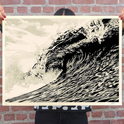 "OBEY Giant ""Waves of Distress"" Screen Print by Shepard Fairey"