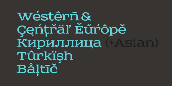 Sreda slab-serif - New Font
