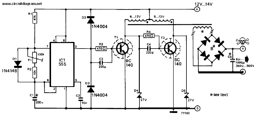 Electronic Communication Projects: 12v DC to 240v DC