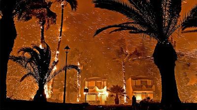 Φωτιά στο Σχίνο Κορινθίας: Δραματικές εικόνες - Εκκενώνονται άλλοι τέσσερις οικισμοί. 20 Μαΐου 2021