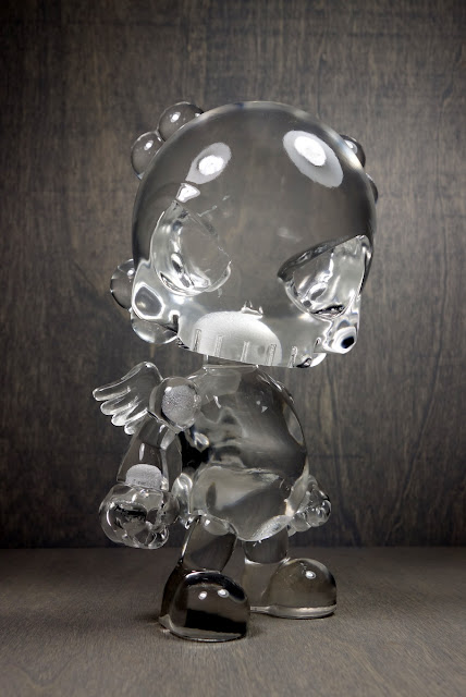The Clear Skullhead Blank Resin Figure by Huck Gee