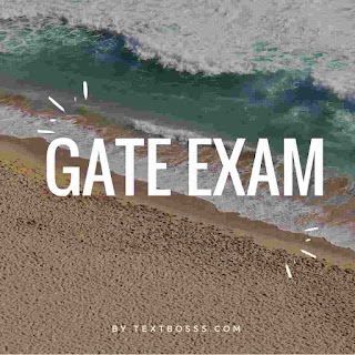 Gate exam eligibilty textbosss
