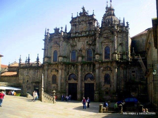 La fachada de la azabachería, Catedral de Santiago de compostela, Galicia