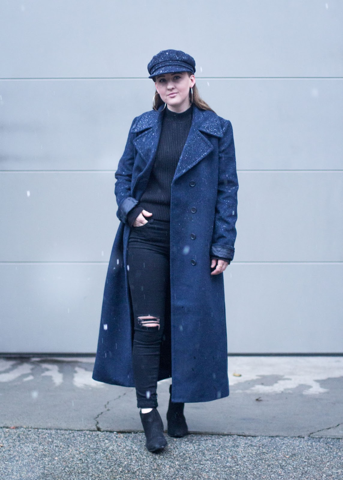 new Forever 21 coat / Louis Vuitton bag / Frame jeans - Winter style outfit