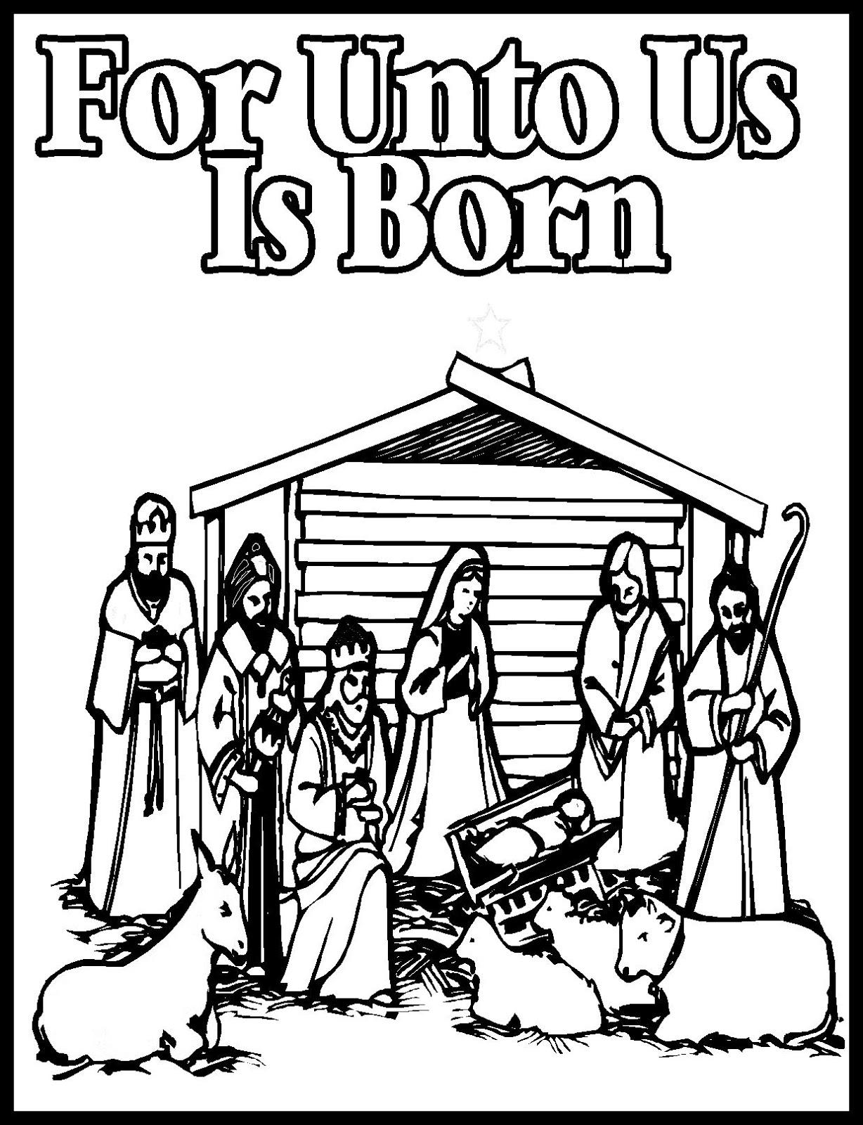 Christmas Coloring Pages Jesus