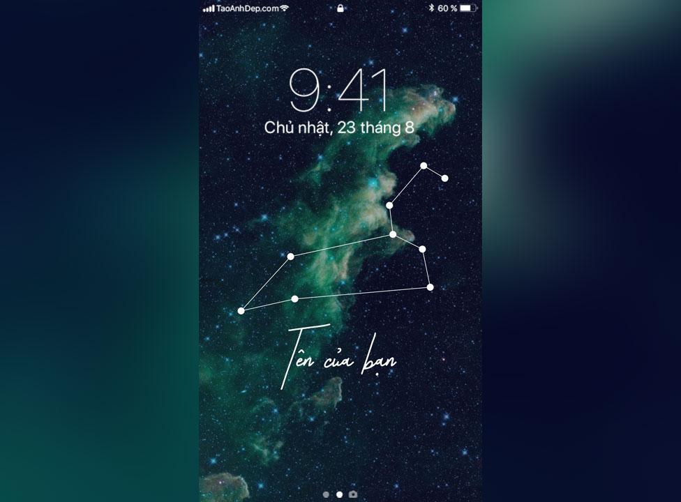Tạo hình nền điện thoại Galaxy theo chòm sao cung hoàng đạo