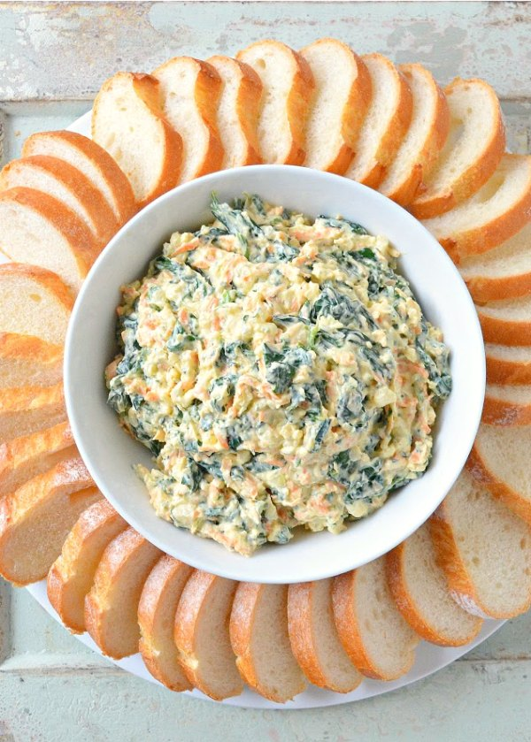 Homemade Spinach Dip recipe from scratch is a family favorite at parties. It's easy to make and delicious from Serena Bakes Simply From Scratch.