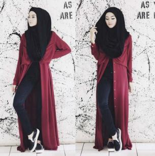 Fashio hijab casual
