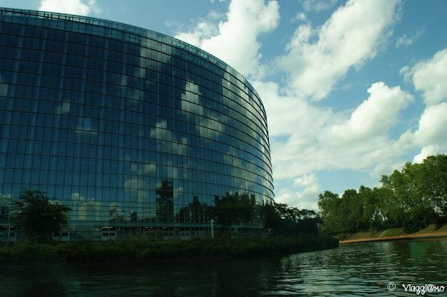 Il palazzo che ospita il Parlamento Europeo di Strasburgo