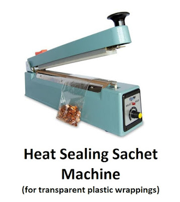 Heat Sealing Sachet Machine for transparent plastic wrappings
