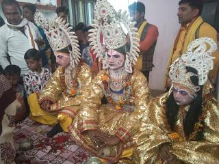 रामलीला धनुषयज्ञ के अंतिम दिन डीजे की धुन पर निकाली गयी राम बारात, जमकर नाचे भक्त