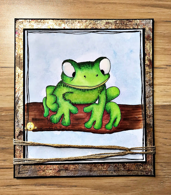 CAS card using frog digital stamp