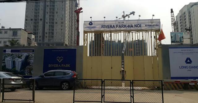 Hình ảnh công trường thi công tại dự án Rivera Park Hà Nội