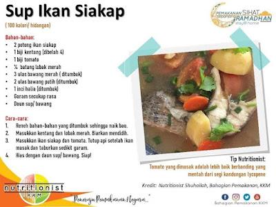 menu berbuka puasa dan sahur simple sup ikan