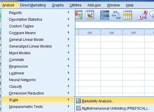 cara uji validitas dan reliabilitas dengan menggunakan program spss statistik 3