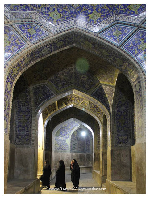 Iran: Praying at Masjid Imam Mosque Esfahan - Ramble and Wander