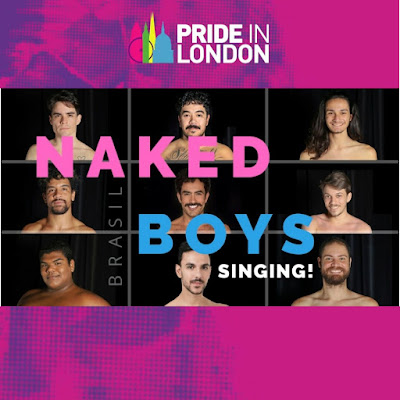 [Notícias]: Elenco do musical 'Naked Boys Singing! Brasil' participa da Parada LGBTQIA+ de Londres