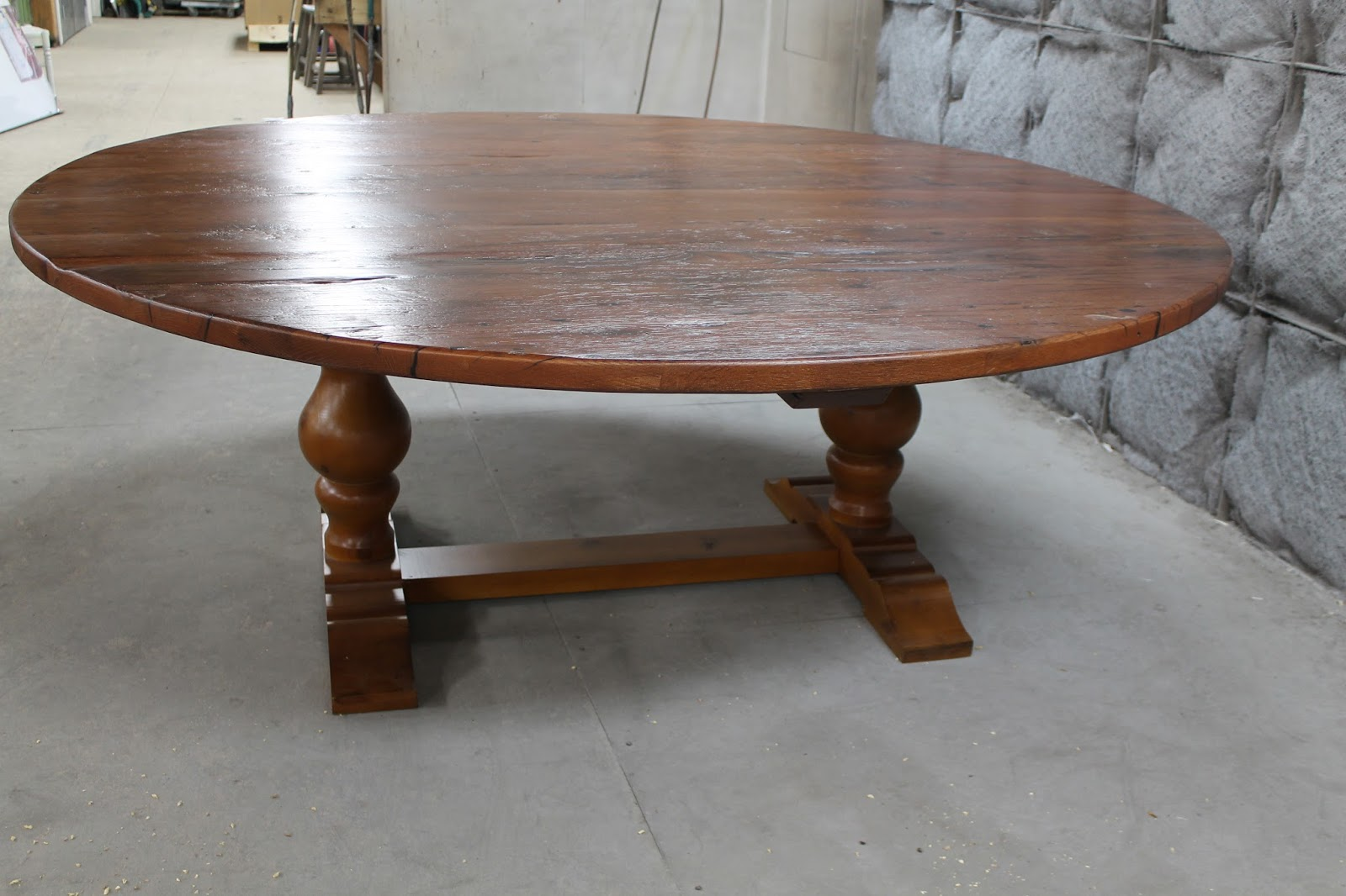 84 Inch Round Dining Table With Lazy Susan