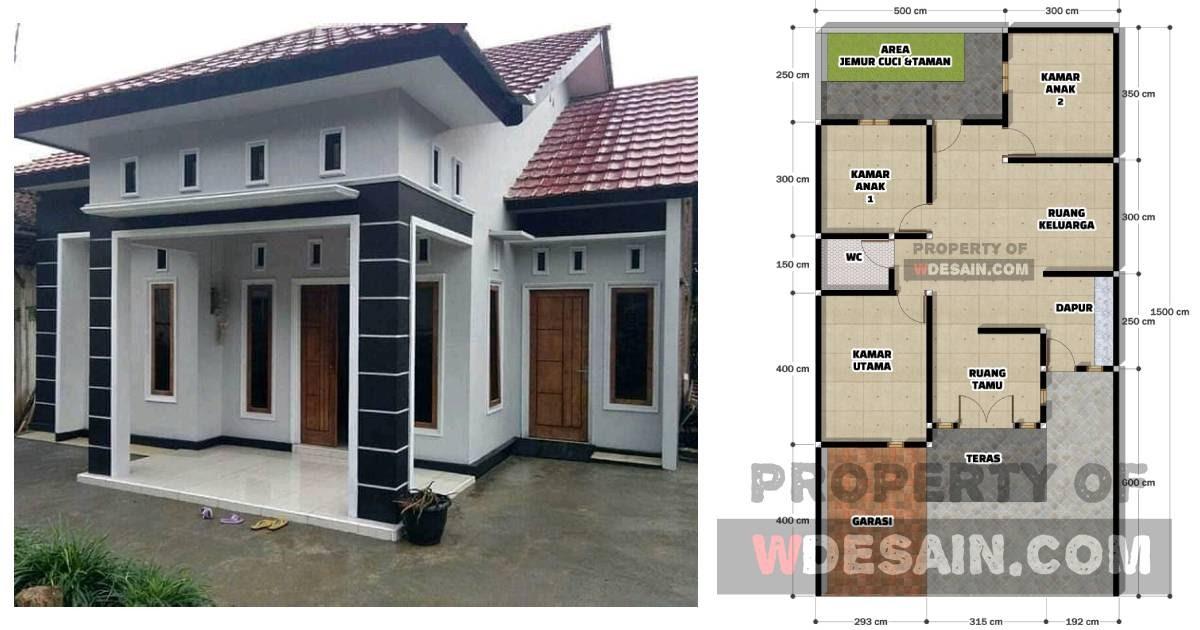 Denah Rumah 1 Lantai 3 Kamar Tidur Dan Garasi Desain Rumah Minimalis