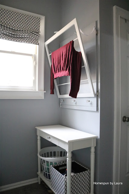 Homespun by Laura DIY Laundry Drying Rack and Fuse Box Cover