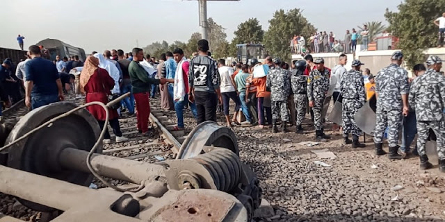 Delapan Gerbong Keluar Rel, Hampir 100 Orang Terluka Di Mesir