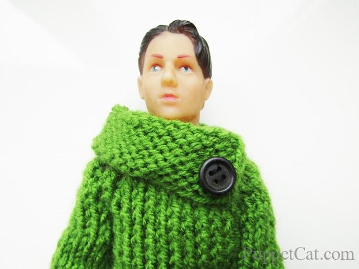 Как связать спицами свитер для куклы
