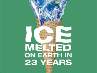 HOW MUCH  ICE MELTED ON EARTH IN 23 YEARS  ICE  MELTED ON EARTH IN 23 YEARS