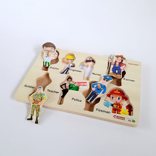 Mainan Anak Puzzle Chunky Profesi
