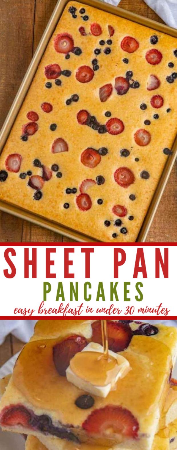SHEET PAN PANCAKES #cake #pancake #desserts #easy #paleo