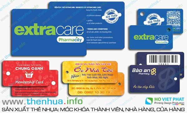 Làm thẻ nhựa chất liệu nhựa PVC, chống thấm nước số ít